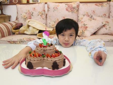 8歲生日第一趴蛋糕