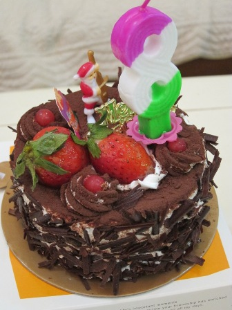 八歲生日當天的蛋糕