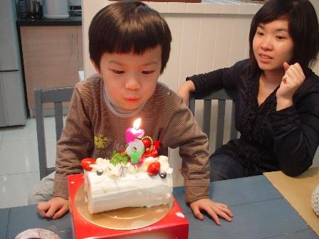 親愛的寶貝,五歲生日快樂