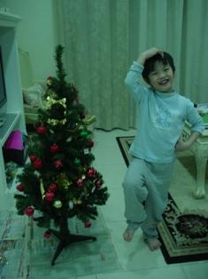 98年的耶誕樹是我ㄧ手佈置的喔