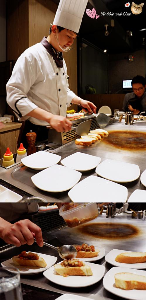 新竹竹北享廚鐵板燒鐵板莎莎醬麵包.jpg