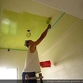 樓梯間頂篷油漆製作.JPG