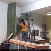 壁爐煙囪飾板製作.JPG