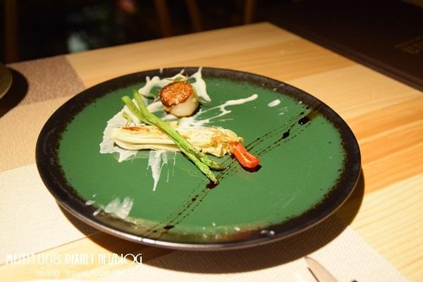 波咔北海道干貝蘆筍佐白花菜泥