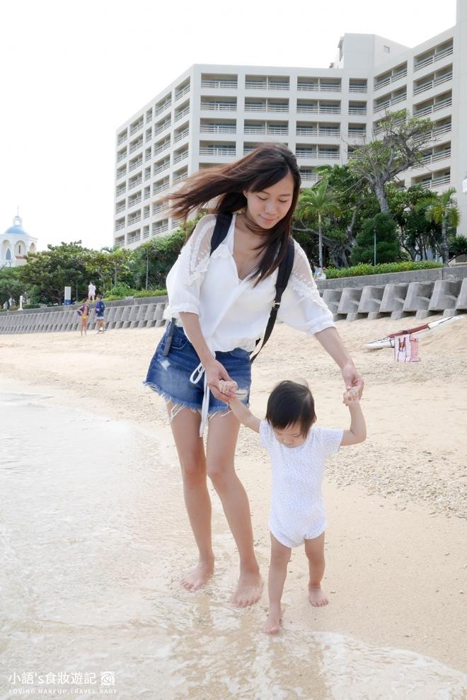 沖繩麗山谷茶灣飯店細沙適合小寶寶