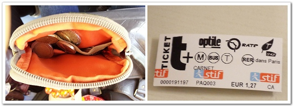 048-這就是換下來的零錢,多到還可以買十張地鐵票(Carnet)呢!