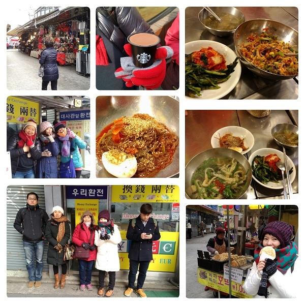 005-今天到南大門市場吃早餐,大家都包緊緊,因為下雪啦!.jpg