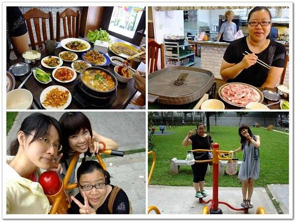 20110717新羅韓式料理-吃了滿滿一桌菜,後來去公園運動XD.jpg