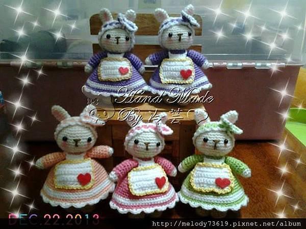 5隻兔媽媽
