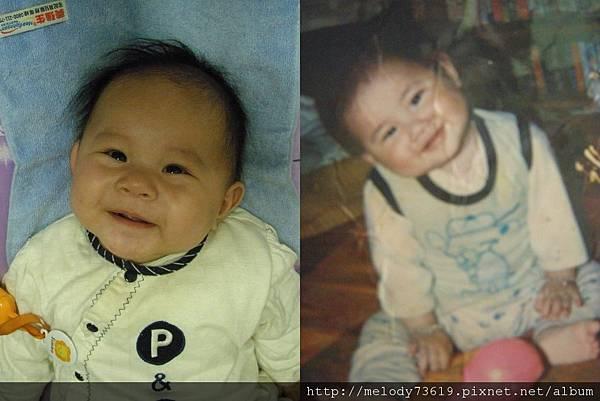 媽咪小時候和樂樂4個月