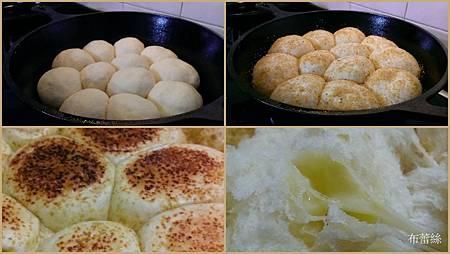 鑄鐵鍋爐火烤甜麵團麵包包