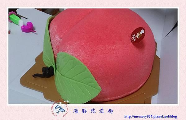 造型蛋糕。壽桃 (1)