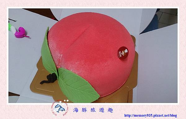 造型蛋糕。壽桃 (4)