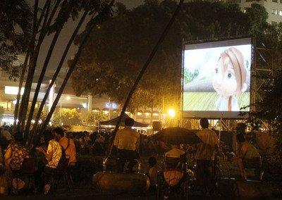 2011/10/09 台中公園深夜星空電影院 三部電影六小時跨夜放送