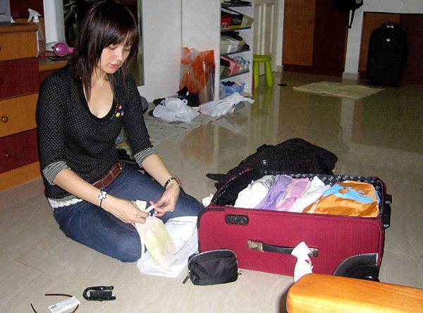 收拾行李ing...