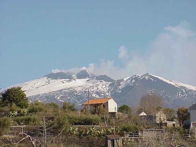 Mimmo拍的Etna活火山~还冒着烟呢!