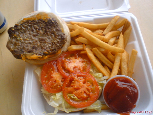Big Ed's Dbl.cheeseburger+fries