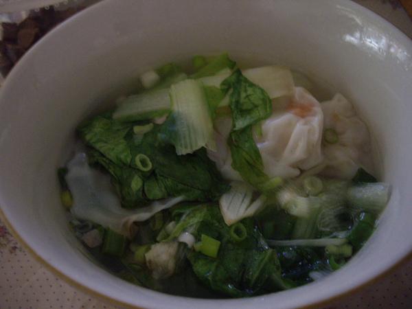 媽包的混沌煮的餛飩湯