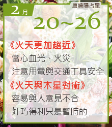 每週重要星象2017_0220_0226