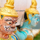 Sculpture Of Mythological Rakshasa In Tiger Temple, Krabi Province, Thailand