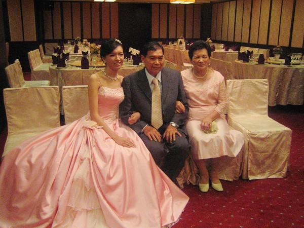 新娘和爸媽