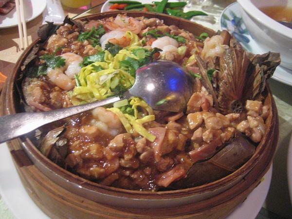 鮮蝦荷葉飯