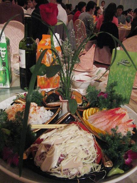 冷盤(鮑魚、甜蝦、烏魚子、墨魚)