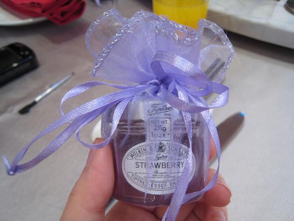 送給每位賓客的小禮物,很特別的果醬!