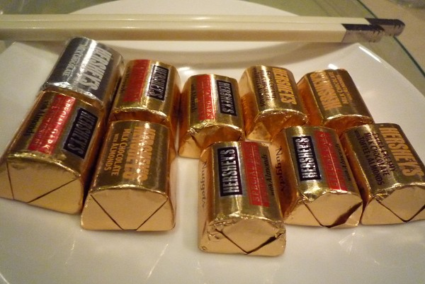 每桌桌上的巧克力,很好吃