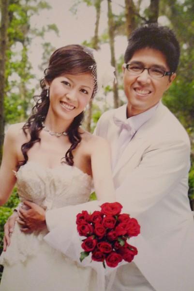 放大的結婚照