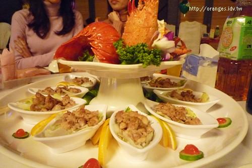 龍蝦沙拉+鱈魚肝