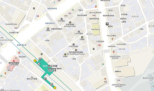 韩巢韩国地图