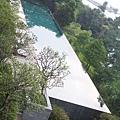 從陽台眺望游泳池