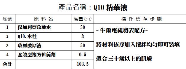 Q10精華液