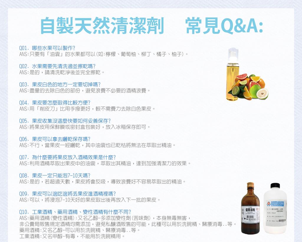 自製清潔劑QA-01