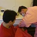 20111225出生第24天在月子中心進行剃頭禮
