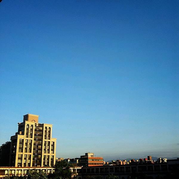 湛藍的天空