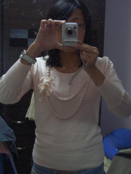 倫敦時尚串球蝴蝶結針織衫