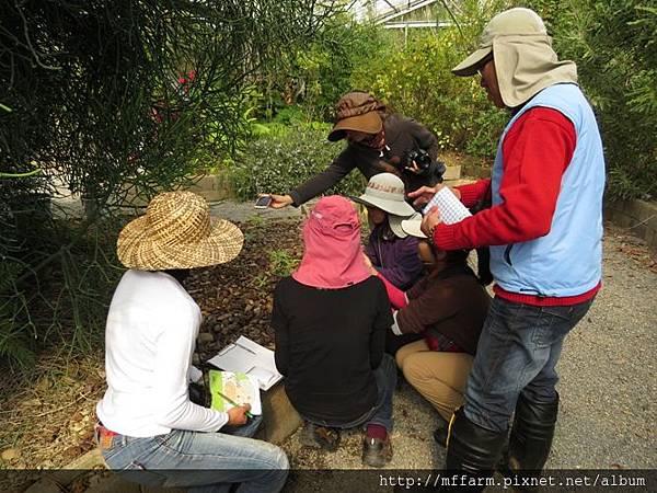 20150128-春陽 解說員訓練(李圓恩) 可愛植物區 詠婷介紹食蟲植物與解說員們 (5)