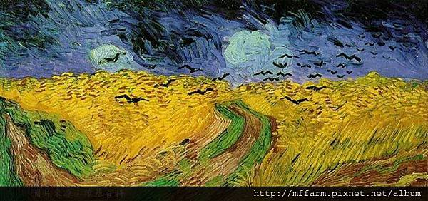 600px-Vincent_van_Gogh_(1853-1890)_-_Wheat_Field_with_Crows_(1890) 選自維基