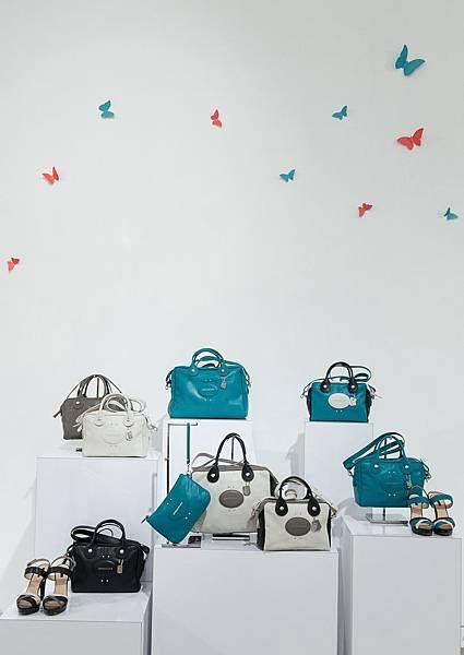 Longchamp 2014春夏新品預覽會,推出Quadri系列進階包款,運用三色混合搭配,營造立體視覺衝擊!.jpg