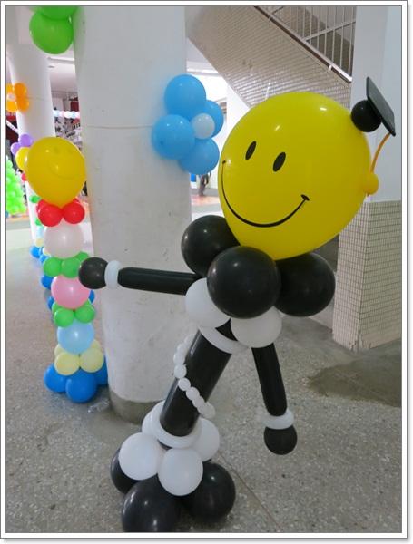 可愛氣球柱