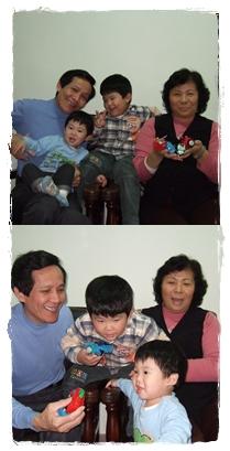 兩兄弟+外公外婆