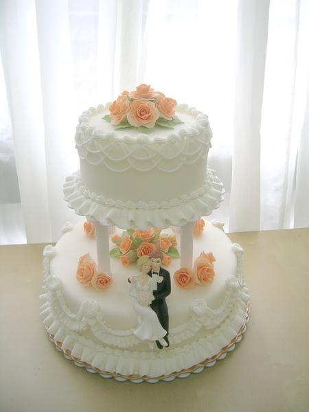 雙層翻糖結婚蛋糕
