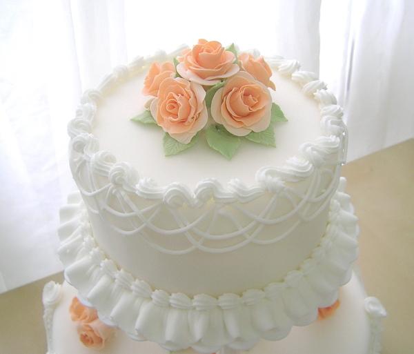 雙層翻糖結婚蛋糕1