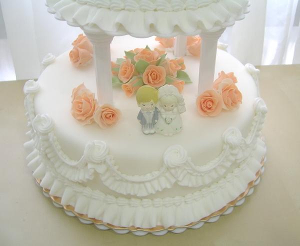 雙層翻糖結婚蛋糕2