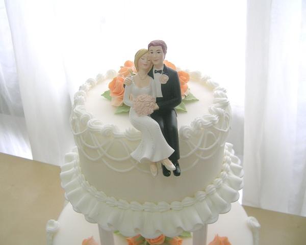 雙層翻糖結婚蛋糕3