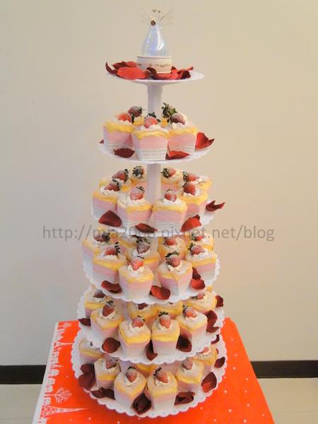 結婚杯子蛋糕塔