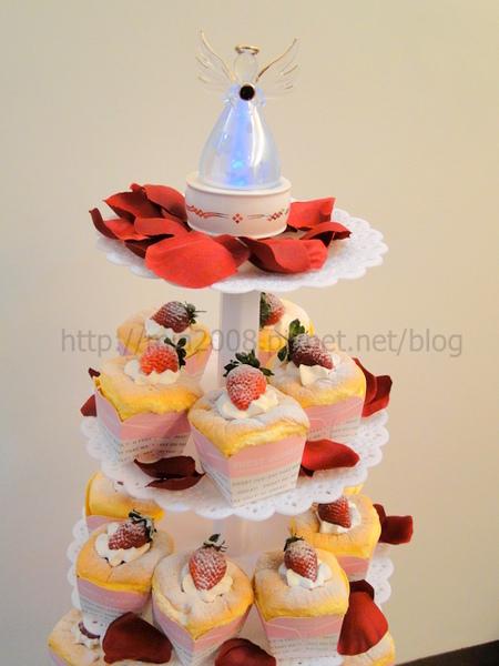 結婚杯子蛋糕塔1