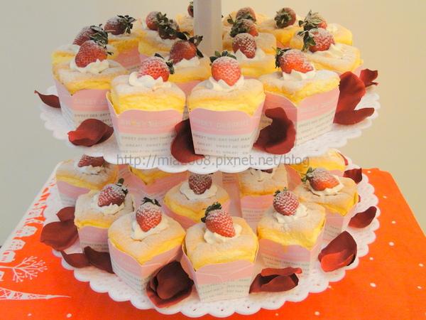 結婚杯子蛋糕塔2